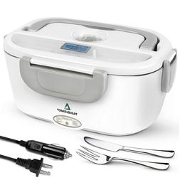 TRAVELISIMO Electric Lunch Box 2 in 1 - Portable Food Warmer