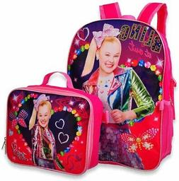 Jojo Siwa Backpack with Insulated Lunchbox - pink multi, one
