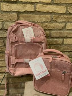 Pottery Barn Kids Large Pink Glitter Backpack Lunch Box Lunc