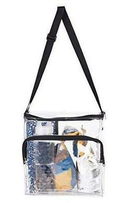 Large Lunch Bag Stadium Security Approved Clear Lunch Box wi
