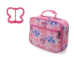 Lunch Box Butterfly Print with Butterfly Sandwich Cutter in