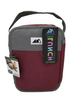 Arctic Zone MAROON Insulated Lunch Box Bag Container Food Tr