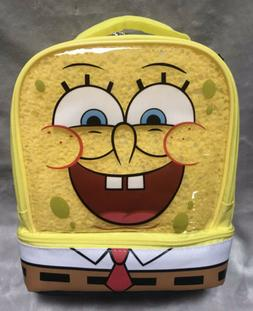 NEW Sponge Bob Square Pants Insulated Double Compartment Kid
