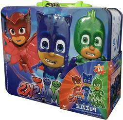 PJ Masks 24 piece Puzzle in a Tin Lunch Box with Handle