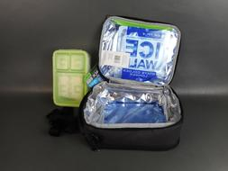 Arctic Zone 1 Ultra Lunch Box, Expandable, Black/Gray