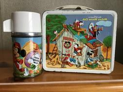 VINTAGE MICKEY MOUSE CLUB LUNCHBOX AND THERMOS