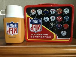 VINTAGE NFL LUNCHBOX AND THERMOS